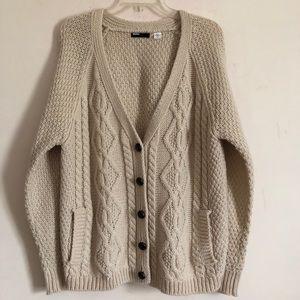 UO BDG fisherman knit oatmeal  sweater